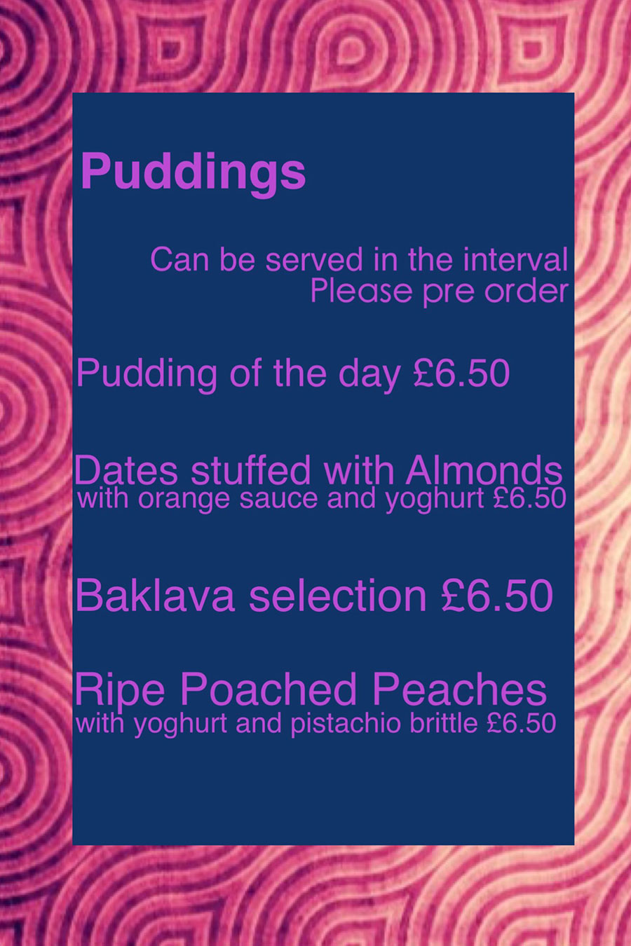 Puddings