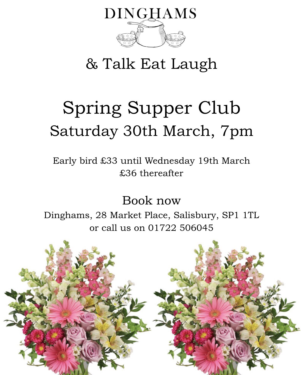 Supper Club with Dinghams, 30th March