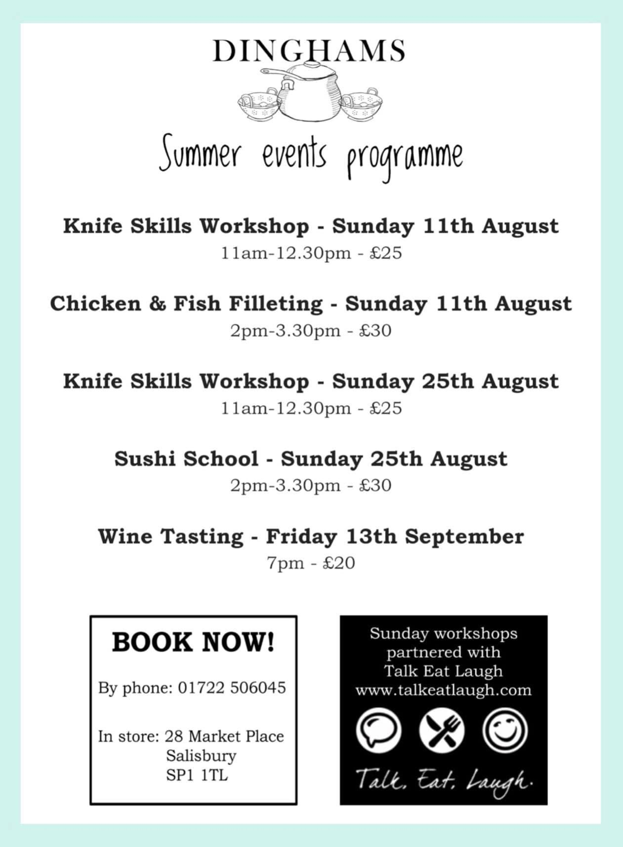 Knife Skills Workshop | Sushi School